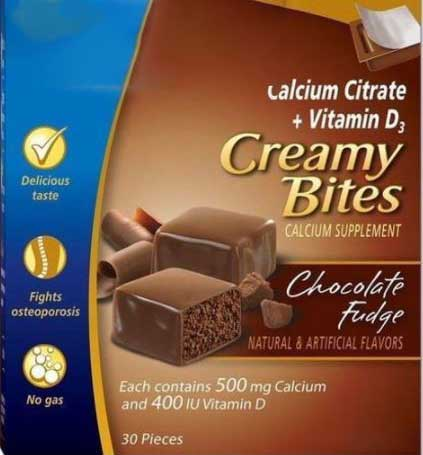Calcet Citrate Creamy Bites
